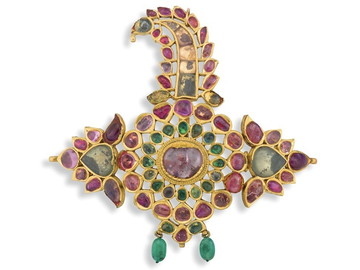 Gem-set and gold Indian Sarpech, 19th century
